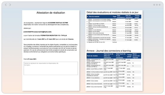 OPCO formation digitale octime
